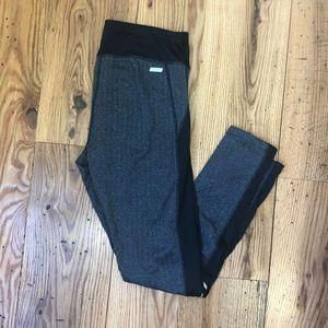 Gray/Black Printed Athletic Leggings
